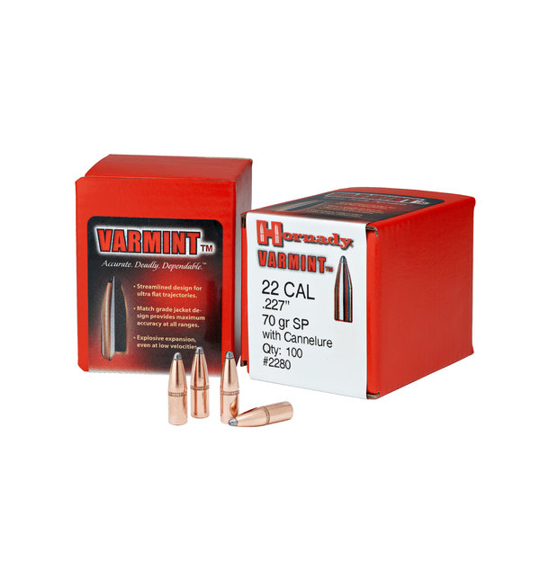 Hornady 22 Cal  224 50gr  SP SX Bullet 100pk #2240